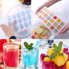 21 Cube Tray Cavity Mold  Lid Cover Drink Fruit Freezer Plastic Moulds 12*30cm