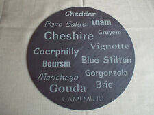 Laser Etched Slate Cheese Board Felt Backed Brand New