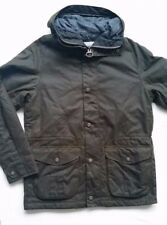 Barbour Bryn  Men's  Waxed Cotton Insulated Jacket - Olive, Size M, L