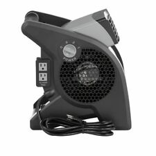 Lasko 3-Speed Pivoting Blower Plastic Floor Fan with Integrated Power Outlets