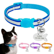 PetArtist® Quick Release Cat Puppy Collar Personalized Pet Reflective