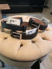 New Gucci Men's 345658 BGH0N 2140 Brown/4009 Blue Smooth Leather GG Buckle Belt