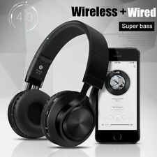 Lerbyee® Bluetooth Headphone BT-06 Over-ear Foldable Wireless+Wired Connectivity