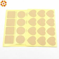 DIYHouse® 120PCS/Lot Heart/Round/Square Shaped Blank Kraft Paper Stickers