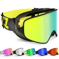 Ski Goggles with Magnetic Dual-use Lens for Night Skiing Anti-fog UV400