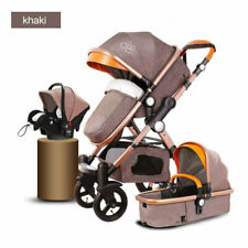 3 In 1 Baby Stroller High View Pram Foldable Pushchair Bassinet Car Seat Luxury