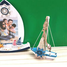 Wooden Sailing Boat Model Crafts Marine Nautical Household Ornaments Gift