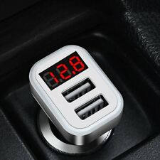 HOCO Z3-2U Dual USB Ports Car Charger LCD Voltage Current Tester ON