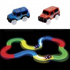 2x Cars For Magic Tracks Glow in the Dark Amazing Racetrack Light Up Race Toys
