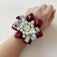 Bridal Wrist Flowers Corsage Bracelet Hand Flower Wedding Party Prom Costume