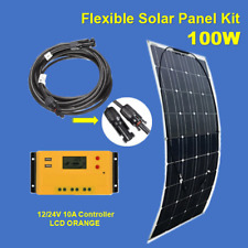 100W 100Watt Solar Panel Kit 12V Solar Controller Off-Grid RV Boat Vehicles Roof