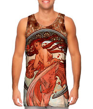 "Yizzam- Alphonse Mucha - ""Dance"" (1898) - New Men Tank Top Tee Shirt XS S M L X"