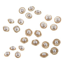 4Pcs Plastic Pearl Shank Buttons for Wedding Embellishment Sewing Craft 25mm