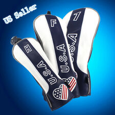 Patriotic Wood Headcover Vintage Cover for Golf Taylormade Driver Fairway Hybrid