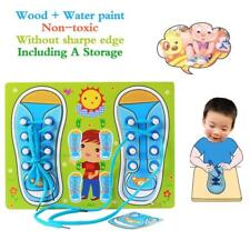 Educational Shoe Laces Board Pegged Puzzles Learn To Tie Your Shoelace Child DD