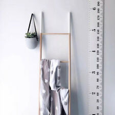 Height Ruler Wall Decals with Hanging Record Baby Kids Growth Chart Practical HS
