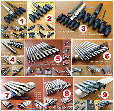 9Kind Leather Craft Interchangeable Hollow Hole Punch Cutter Chisel Tool Set NEW