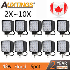 2~10X 48W Square LED Work Light Lamp For Offroad Truck Tractor Boat Bar 12V 24V