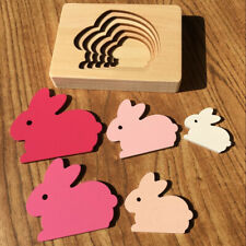 Wooden Animal Carton 3D Puzzle Toy Children Baby Early Educational Toys