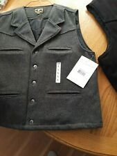 CLEARANCE!! WOOL VEST NEW Youth/Adult WYOMING TRADERS BLACK/GRAY BUCKAROO STYLE