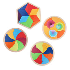 Wooden Puzzle Tangram Jigsaw Toy Brain Teasers for Kids Learning Gifts