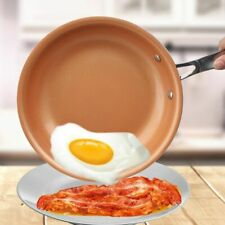 Non-stick Skillet Copper Red Pan Ceramic Induction Skillet Frying Pan Saucepan