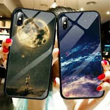 Star Space Cover Case For iPhone XS MAX XR 6 6S 7 8 Plus X Glass Phone Cases