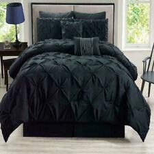 12 Piece Rochelle Pinched Pleat Bed In A Bag W/600Tc Cotton Sheet Set
