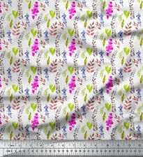Soimoi Fabric Leaves & Orchids Floral Printed Craft Fabric by the Yard - FL-874