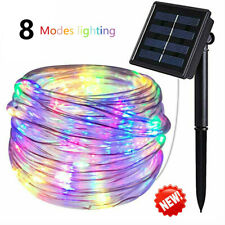 Solar powered 8modes Twinkle Outdoor garden night Fairy String Patio Rope Lights