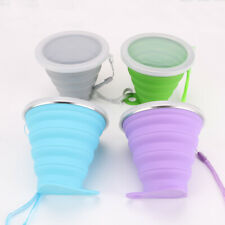 Silicone Folding Collapsible Cup Bowl Telescopic Outdoor Travel Camping 270ml