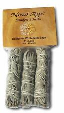 Newage Smudges And Herbs Mcws3 California Mini Sage Wands, 3-Inch, Pack Of 3, Wh