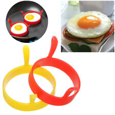 Silicone Round Egg Rings Pancake Mold Ring W Handles Nonstick Fried Frying