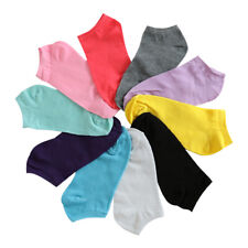 10 Pairs Womens Ankle Boat Liner Invisible No Show Low Cut Solid Cotton Socks
