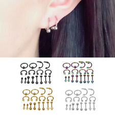 8 Pairs Bulk lots Body Piercing Eyebrow Jewelry Belly Tongue Bar Ring Wholesale