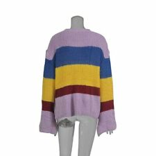 Long Sleeve Jumper Casual Loose Knitwear Knitted Pullover Sweater Knit Shirt