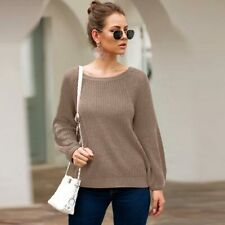Tops Jumper Loose Casual Pullover Long Sleeve Knit Shirt Knitwear Sweater