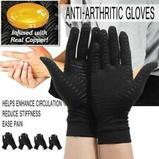 1 Pair Anti-Arthritic Compression Gloves Copper Hand Arthritis Joint Pain Relief
