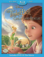 Tinker Bell and the Great Fairy Rescue (Blu-ray/DVD 2010, 2-Disc Set) Disney New