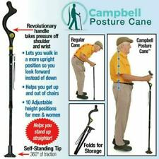 Campbell Posture Cane Walking Cane With Adjustable Heights Folding Hiking Stick