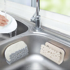 Kitchen Drying Rack Sink Sponges Suction Cup Dish Holder Scrubbers Soap  BH