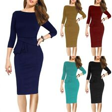Elegant Women's Office Formal Business Work Party Sheath Tunic Pencil Dress NA