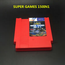 Nintendo NES SUPER GAMES  150 in 1 (8-Bit NES Nintendo) Red Game Cartridge