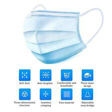 1/5/10/50Pcs 3Layer Face-Mask One time Use-Carbon Filter Mouth-Mask Protection
