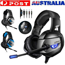 PC Gaming 3.5mm Headset with Microphone Computer Color Light for PS4 Xbox Laptop