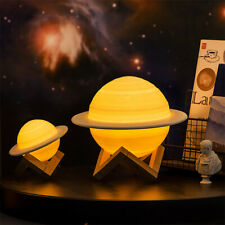 3D Printing Galaxy Saturn Lamp USB LED Night Light Moonlight Remote Touch Switch
