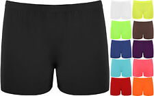New Ladies Stretch Shorts Womens Hot Pants Sizes 8-14