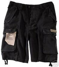 New Mens Army Style PARATROOPER Combat Cargo Shorts Prewashed BLACK -