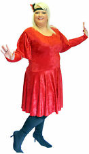 RED 1920'S CHARLESTON FANCY DRESS ALL PLUS SIZES