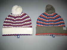 Kangol pebble Knit Pull on hat / Beanie with pom, NWT